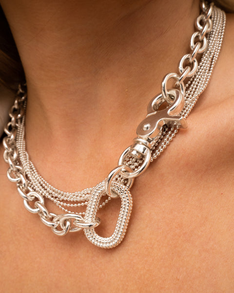 Isla Statement Necklace- Silver (Ships Mid October)
