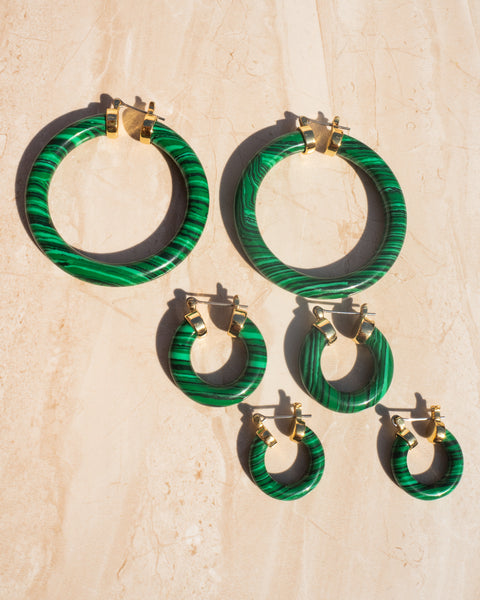 Stone Amalfi Huggies- Malachite