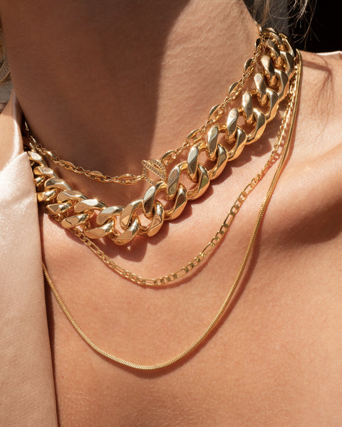 Cecilia Chain Necklace- Gold (Ships Early June)