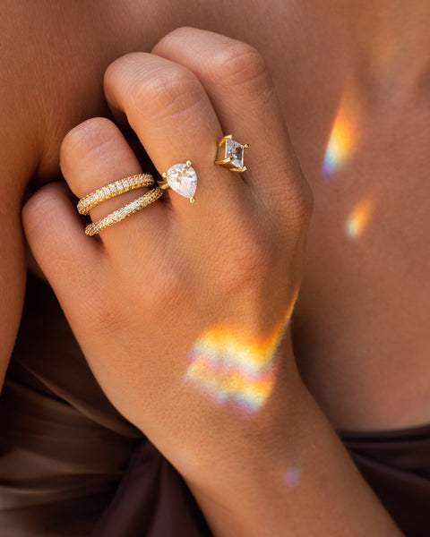 Bijou Statement Ring- Gold (Ships Mid January)
