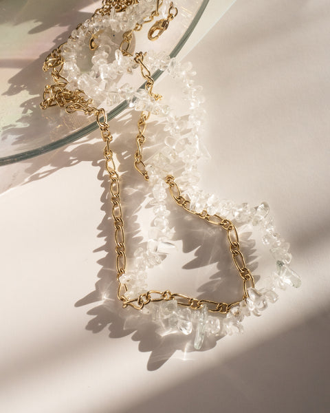 Rock Candy Necklace Duo- Gold