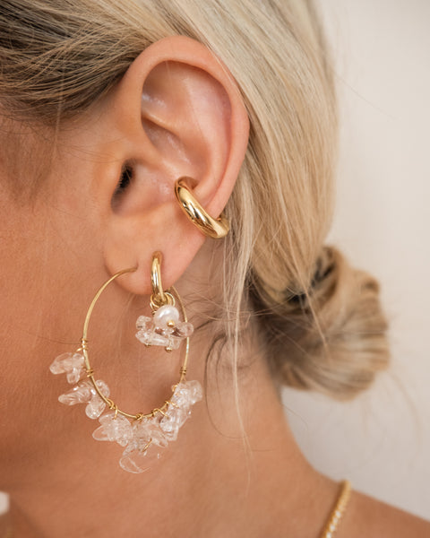 Amalfi Ear Cuff- Gold (Ships Mid April)