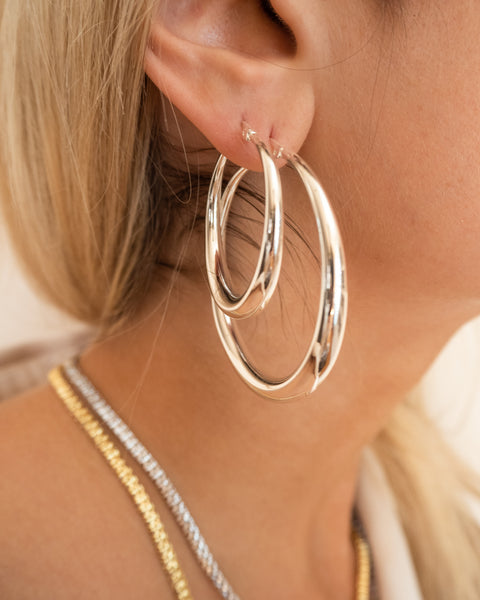 Baby Lucca Hoops- Silver