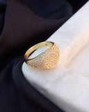 Pave Signet Ring- Gold
