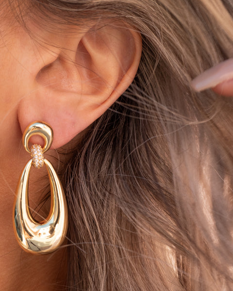 Santos Statement Hoops- Silver