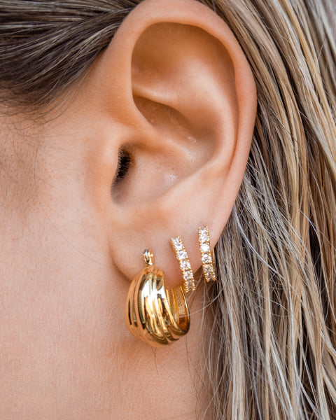 Baby Rosetta Hoops- Gold (Ships Late May)