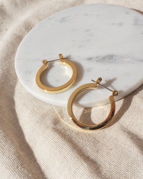 Mini Celine Hoops- Gold