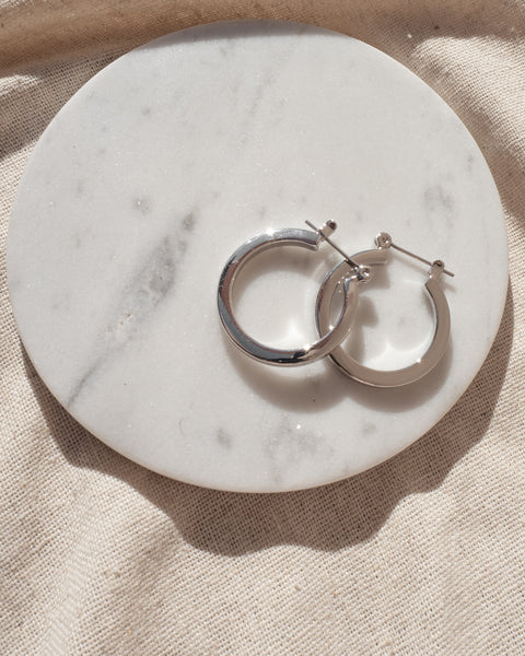 Mini Celine Hoops- Silver (Ships Immediately)