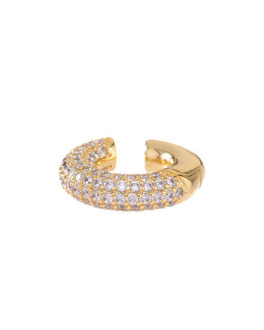 Pave Amalfi Ear Cuff- Gold (Ships Mid May)