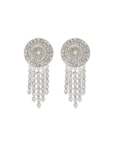 Pave Cosmic Studs- Silver