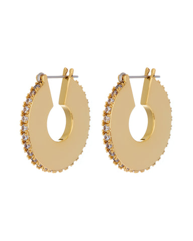 Pave Luna Hoops- Gold (Ships Late April)