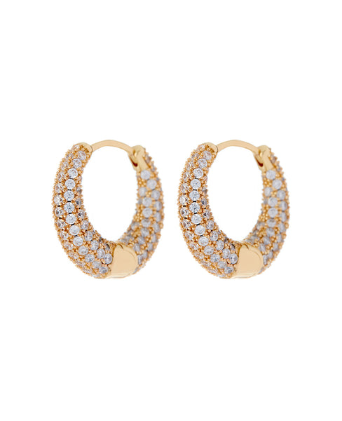 Pave Marbella Hoops- Gold (Ships Late May)
