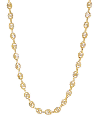 Pave Mariner Chain Necklace- Gold (Ships Late May)