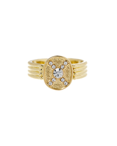 Pave Polaris Ring- Gold