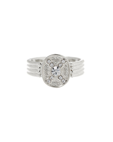 Pave Polaris Ring- Silver