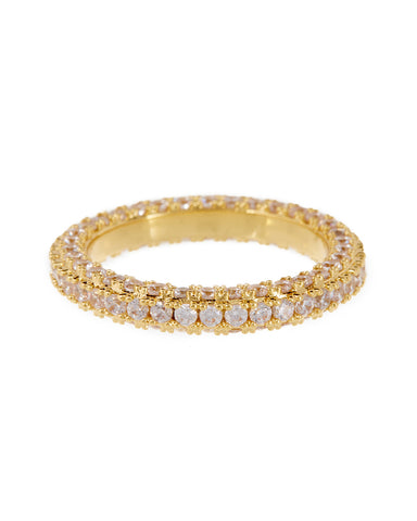 Pave Triple Band- Gold