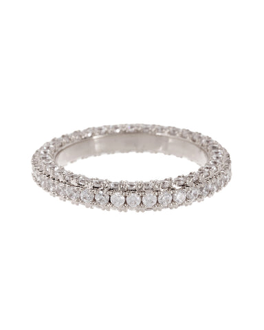 Pave Triple Band- Silver