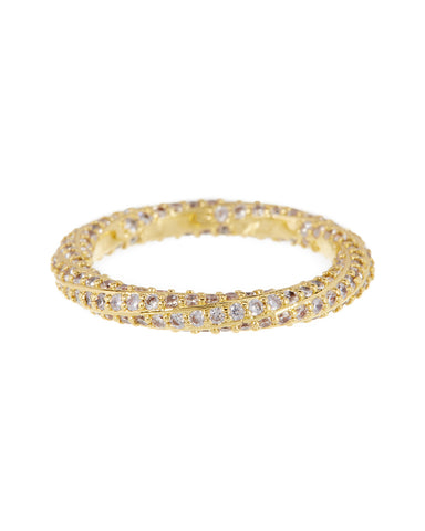 Pave Twisted Ring- Gold