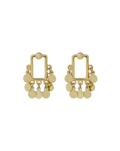 Square Shaker Studs- Gold