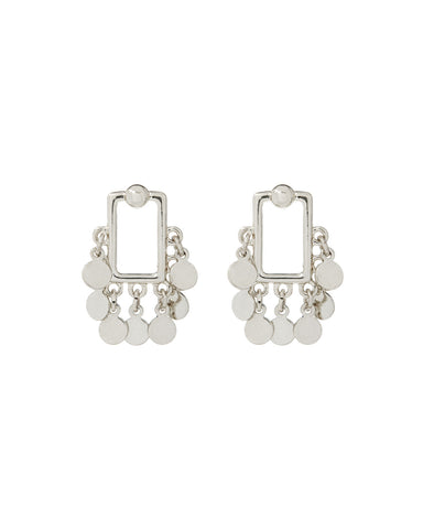Square Shaker Studs- Silver
