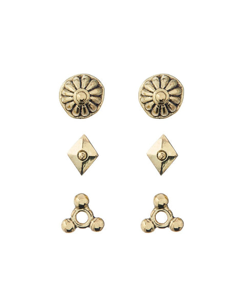 Marrakech Studs Set- Gold