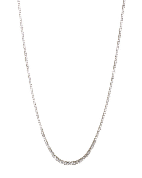 Ascending Ballier Necklace- Silver