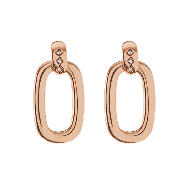 Baby Evil Eye Door Knocker Hoops- Rose Gold