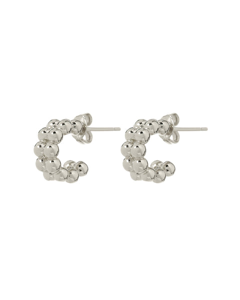 Baby Lucky Hoops- Silver