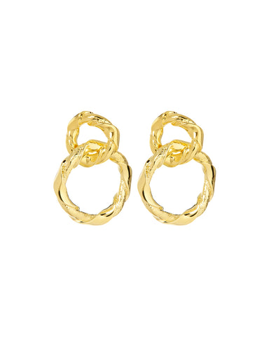 Cecilia Hoops- Gold (Ships Immediately)