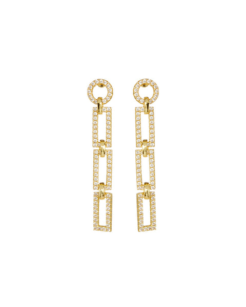 Mini Chain Link Studs- Gold (Ships Early May)