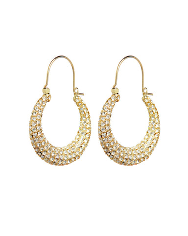 Pave Martina Hoops- Gold