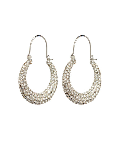 Pave Martina Hoops- Silver
