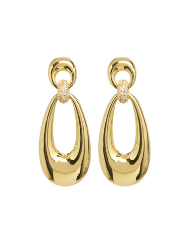 Santos Statement Hoops- Gold