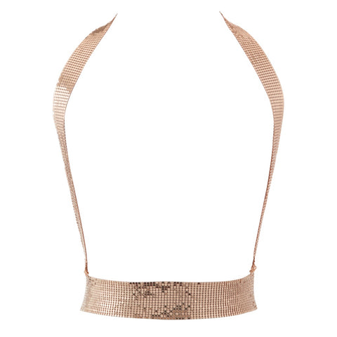 Chainmaille Harness Bodychain- Rose Gold