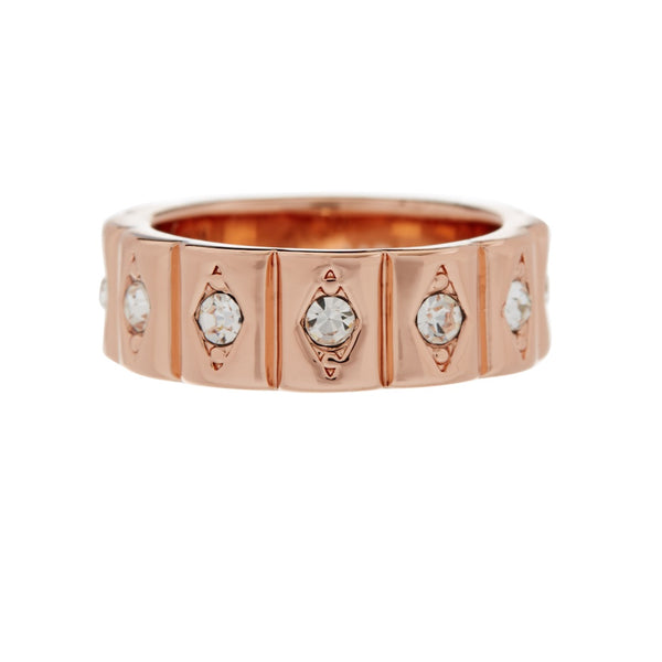Evil Eye Cigar Ring- Rose Gold