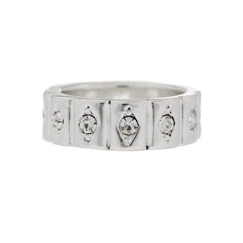 Evil Eye Cigar Ring- Silver