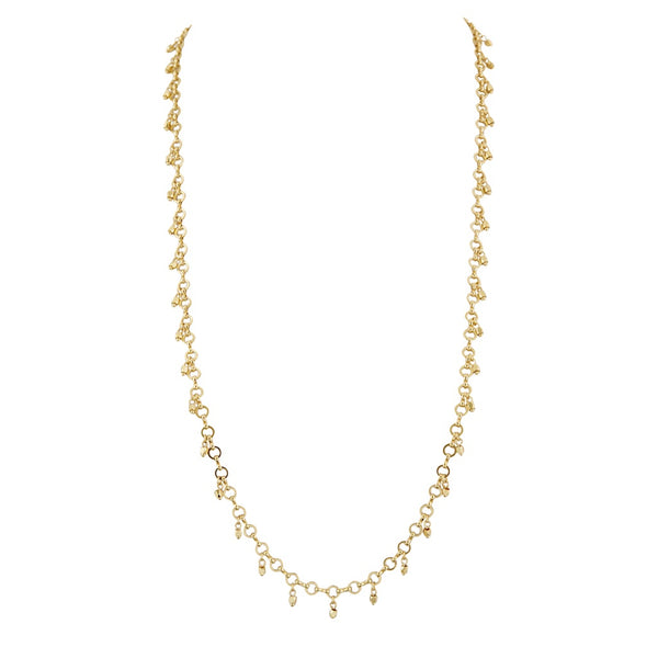 Faceted Bead Belly Chain- Gold