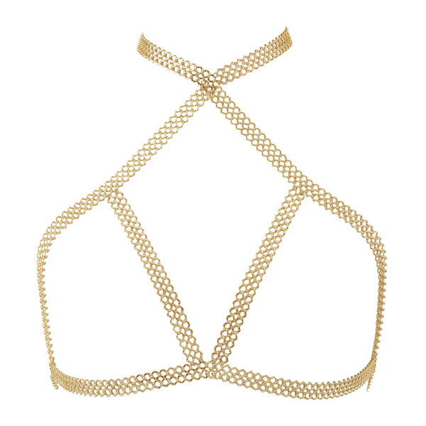 Lola Chain Bra- Gold