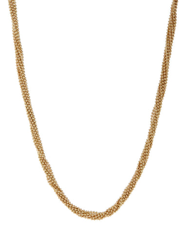 Twisted Bead Necklace- Gold
