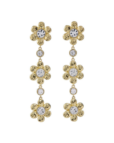 Flora Drop Earrings- Gold