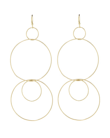 Whisper Wire Hoops- Gold