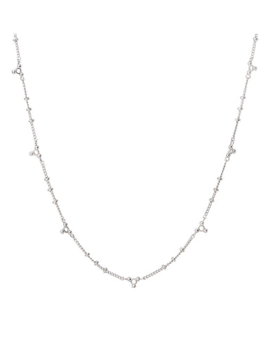 Marrakech Charm Necklace- Silver