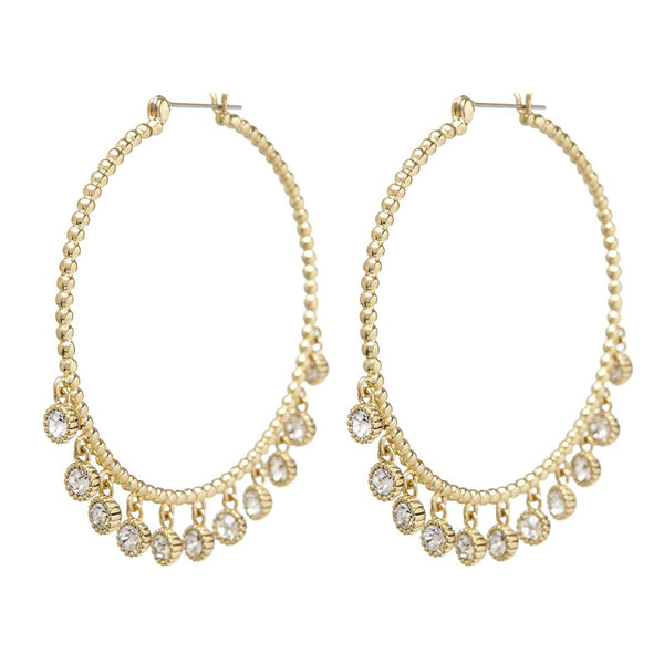 Maraca Shaker Statement Hoops- Gold