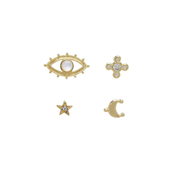 Celestial Pave Studs Set- Gold (Ships Mid May)