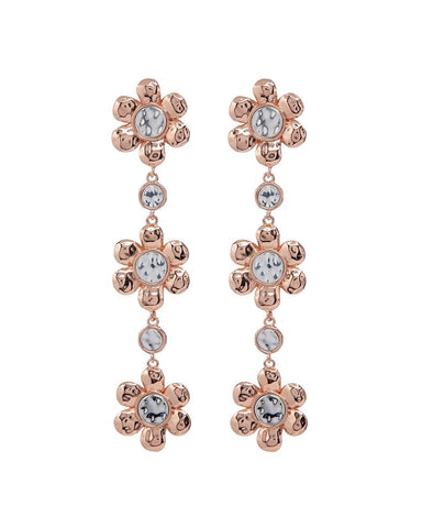 Flora Drop Earrings- Rose Gold