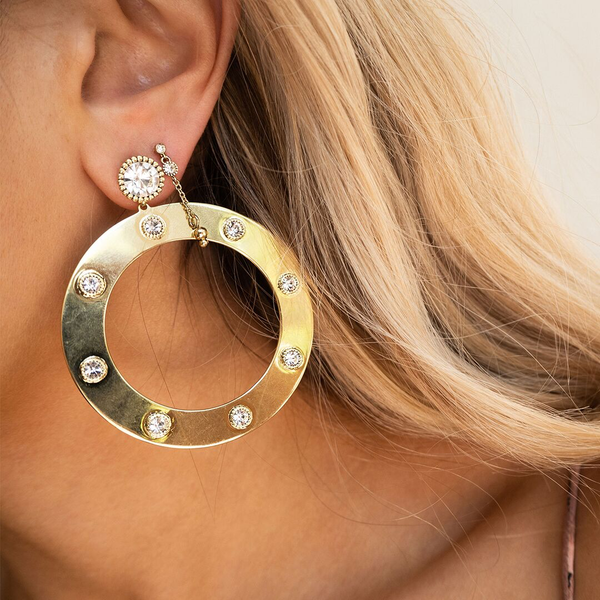 Adona Statement Hoops- Gold