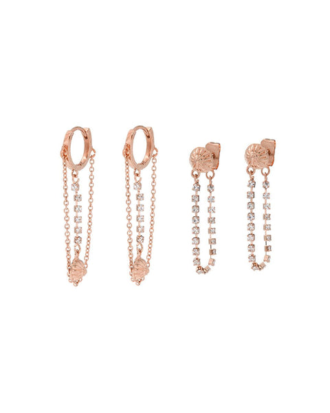 Marrakech Huggies Set- Rose Gold