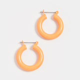 Rainbow Baby Amalfi Hoops- Neon Orange