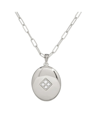 Diamond Pendant Necklace- Silver