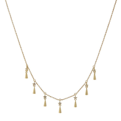 Celestial Shaker Necklace- Gold